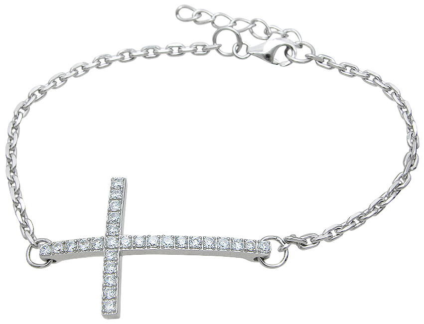 Drop Ship 925 Sterling Silver Cross Bracelet