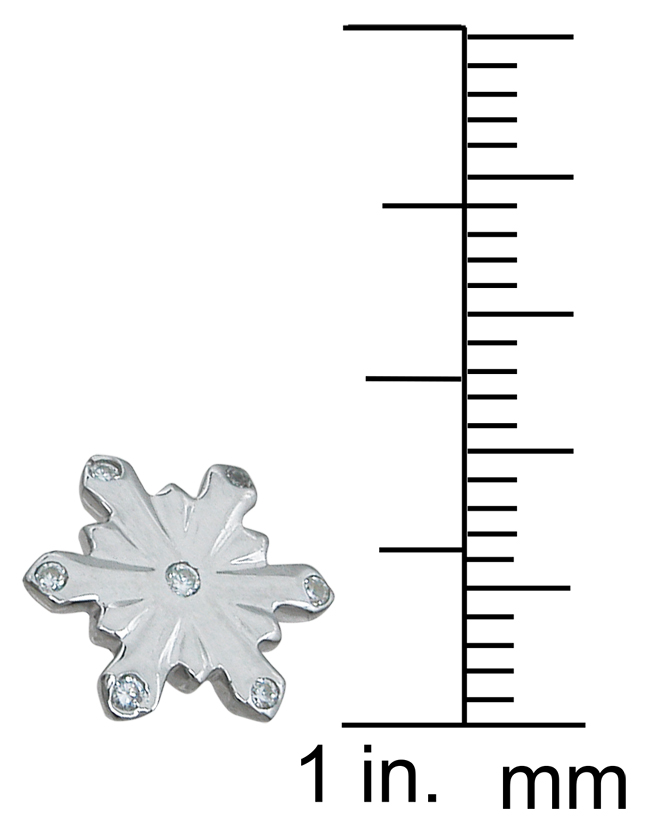 wholesale sterling silver snow flake earrings