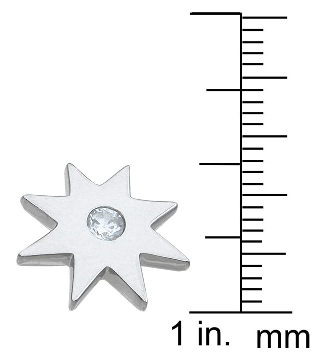 wholesale sterling silver star earrings