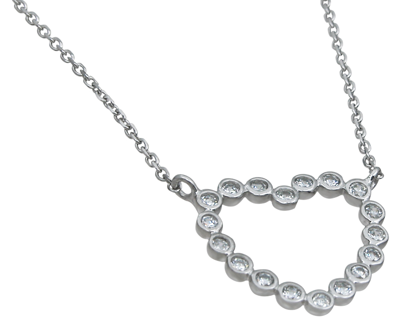 wholesale sterling silver heart necklace