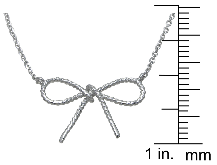 wholesale sterling silver bow tie necklace