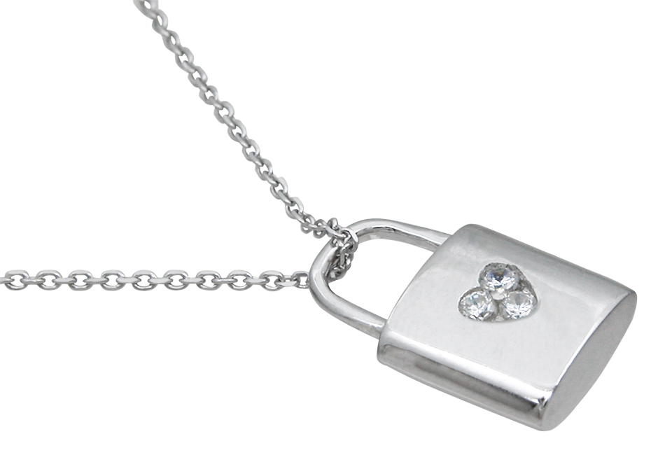 wholesale sterling silver lock pendant