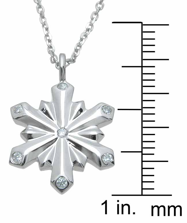 wholesale sterling silver snow flake pendant