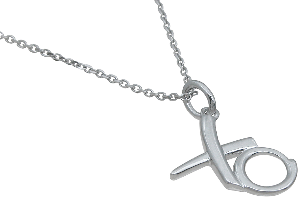 wholesale sterling silver xo pendant