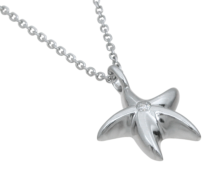 wholesale sterling silver star fish pendant