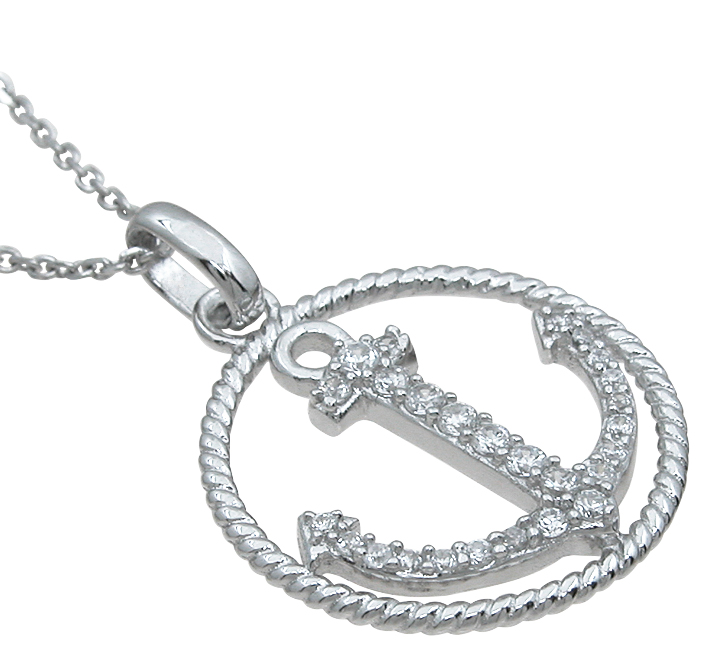 wholesale sterling silver anchor pendant