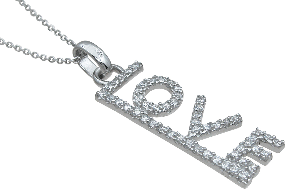 wholesale sterling silver love pendant