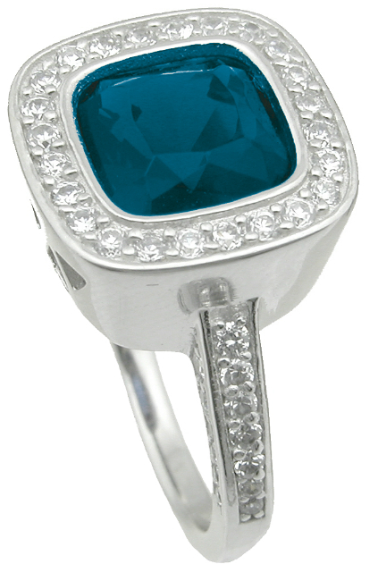 dropship 925 sterling silver simulated sapphire ring