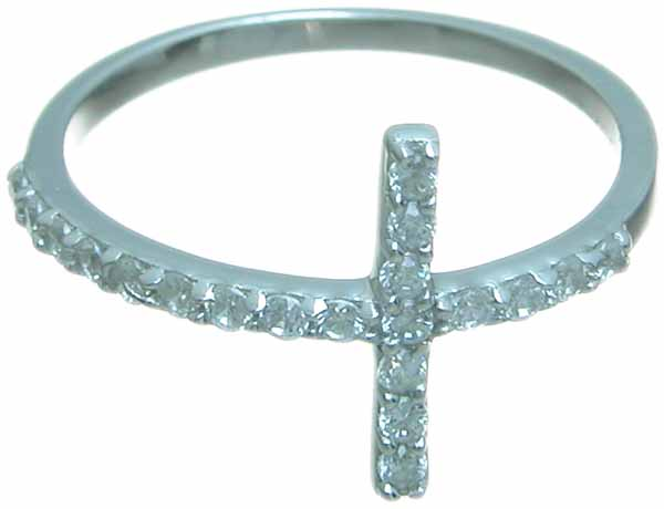 wholesale sterling silver cross ring
