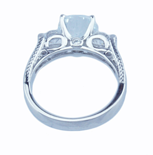 2ct brilliant 925 silver Sterling Couture engagement ring