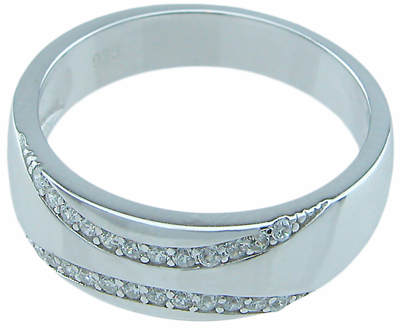 925 Sterling silver mens band