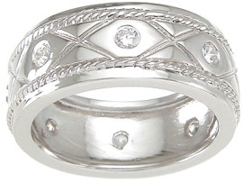 925 Sterling Silver Mens Wedding Band 6