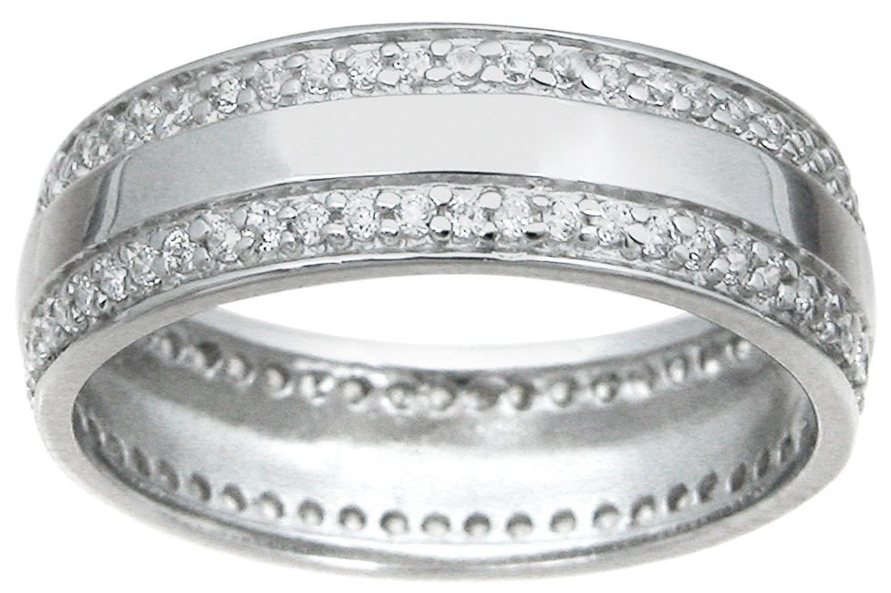 925 Sterling Silver Mens Wedding Band 2