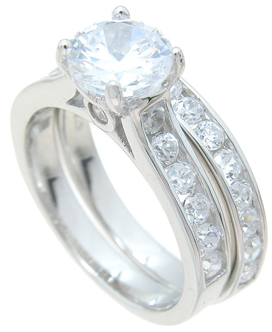 dropship 925 sterling silver brilliant engagement ring set