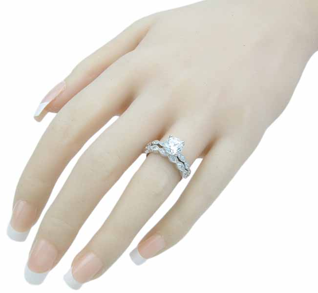 wholesale sterling silver wedding set