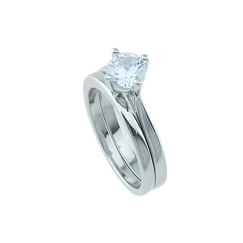 925 Sterling silver wedding set
